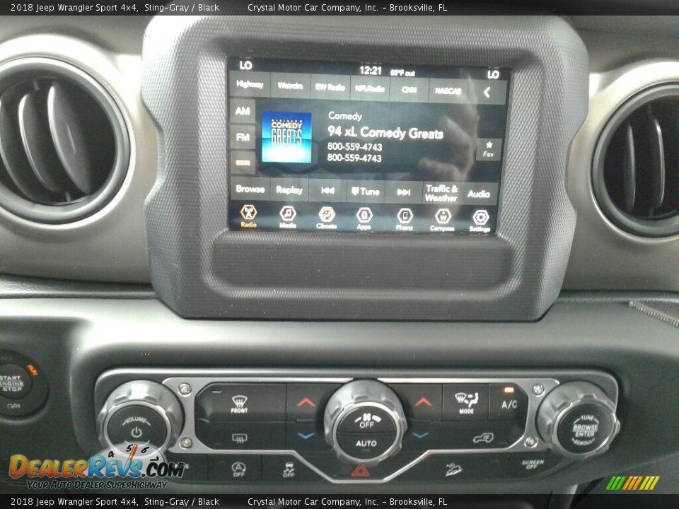 2018 Jeep Wrangler Sport 4x4 Sting-Gray / Black Photo #15
