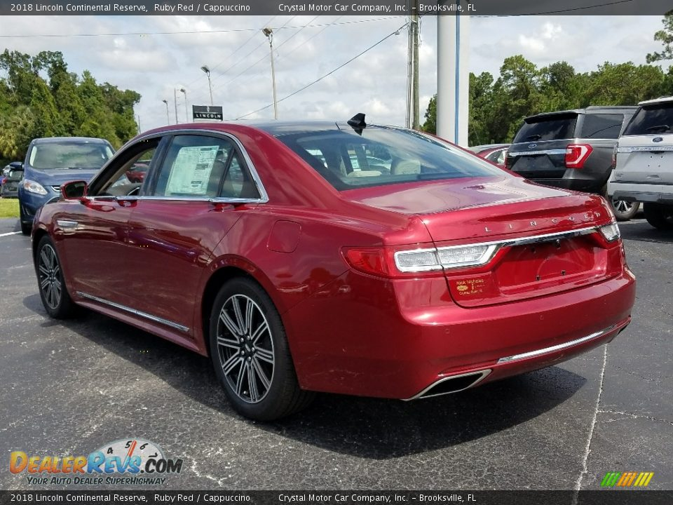 2018 Lincoln Continental Reserve Ruby Red / Cappuccino Photo #3