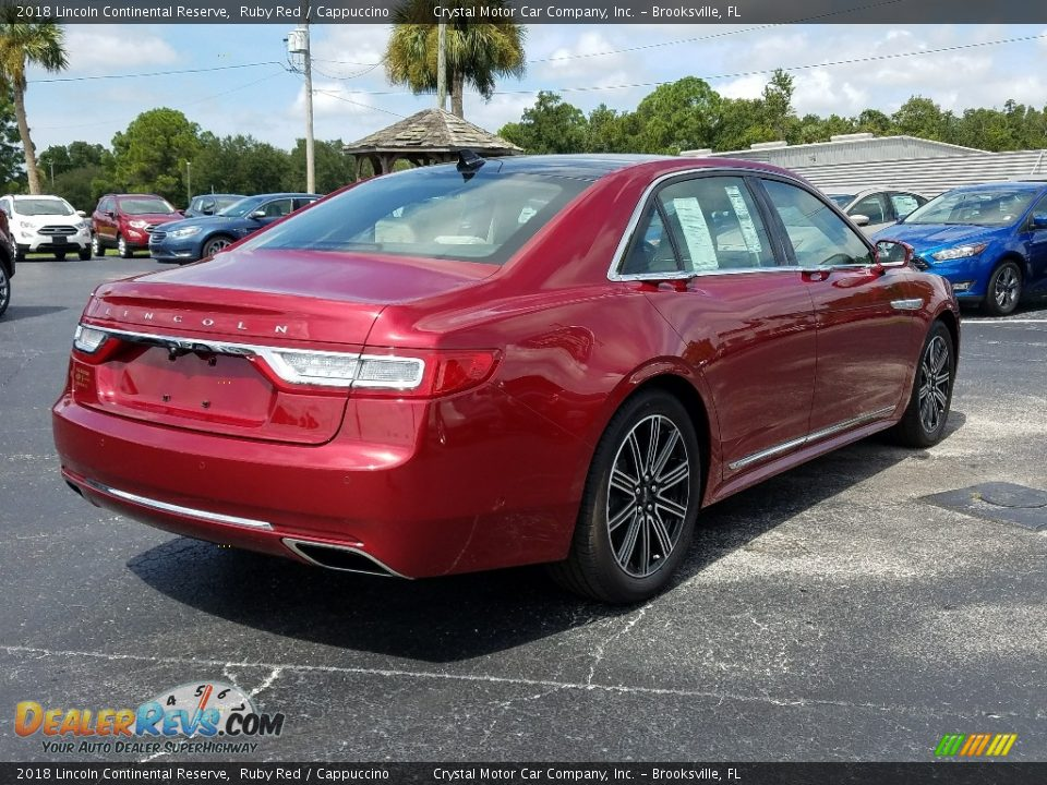 2018 Lincoln Continental Reserve Ruby Red / Cappuccino Photo #5