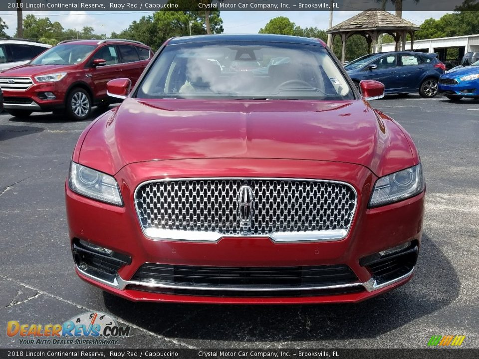 2018 Lincoln Continental Reserve Ruby Red / Cappuccino Photo #8