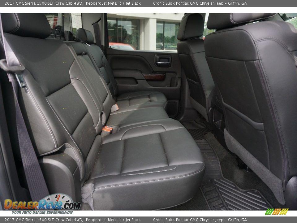 2017 GMC Sierra 1500 SLT Crew Cab 4WD Pepperdust Metallic / Jet Black Photo #16