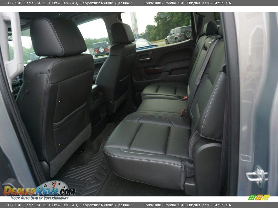 2017 GMC Sierra 1500 SLT Crew Cab 4WD Pepperdust Metallic / Jet Black Photo #19