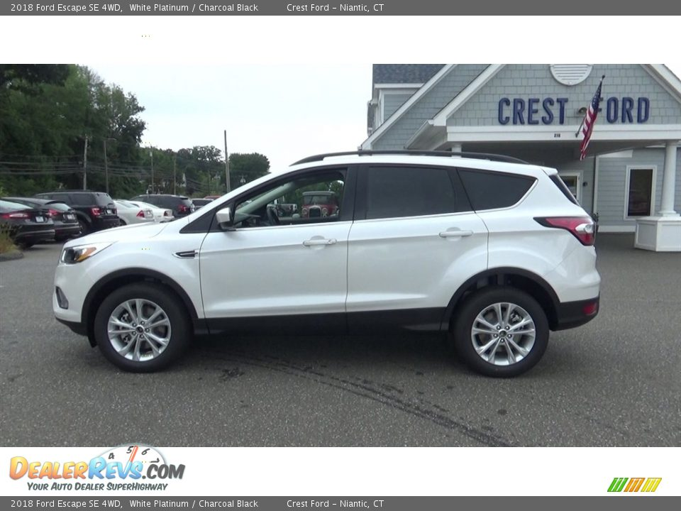 2018 Ford Escape SE 4WD White Platinum / Charcoal Black Photo #4