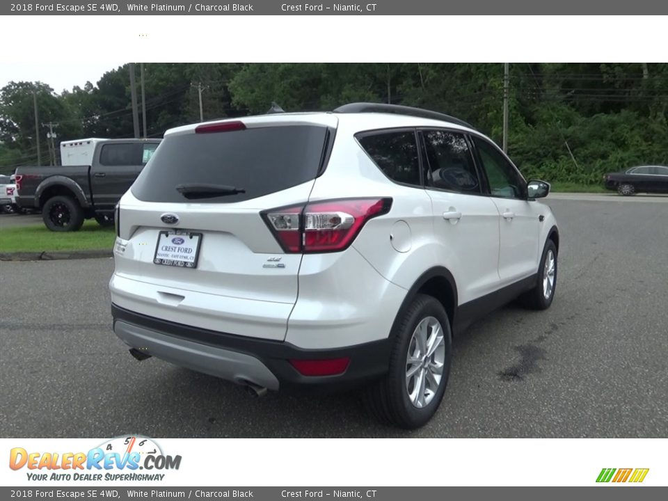 2018 Ford Escape SE 4WD White Platinum / Charcoal Black Photo #7