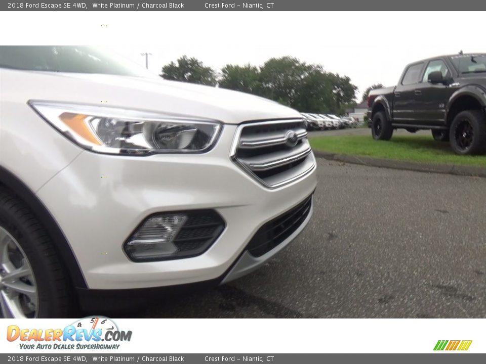 2018 Ford Escape SE 4WD White Platinum / Charcoal Black Photo #27
