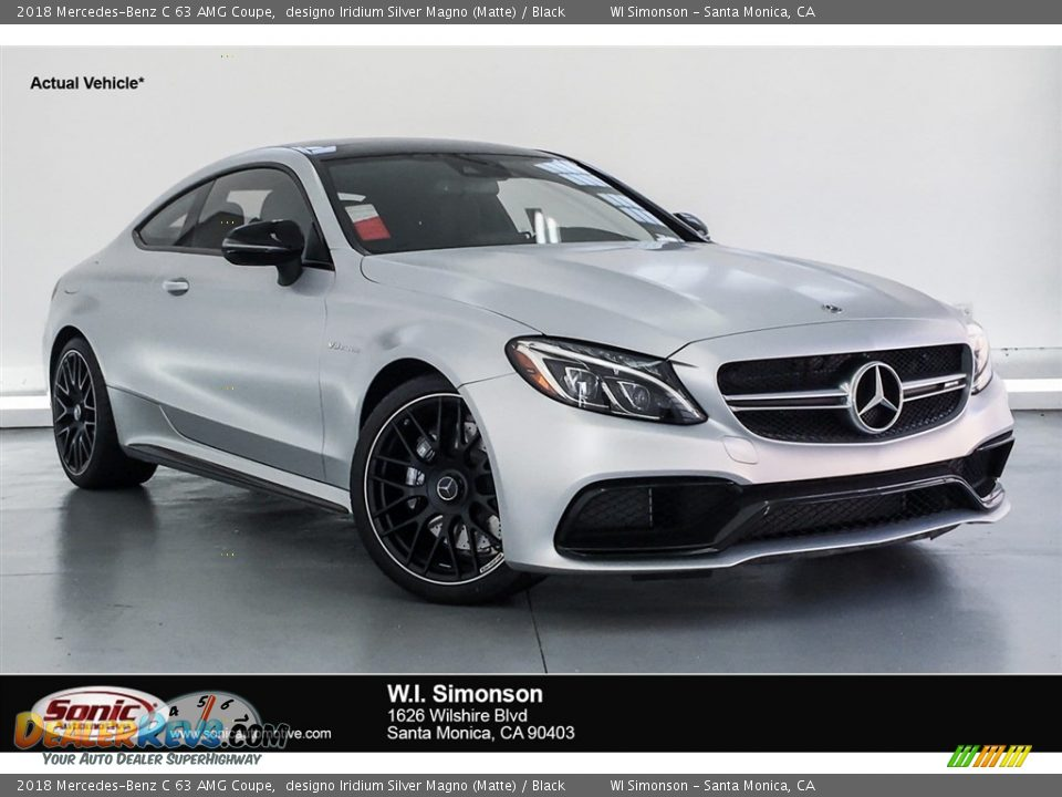 2018 Mercedes-Benz C 63 AMG Coupe designo Iridium Silver Magno (Matte) / Black Photo #1
