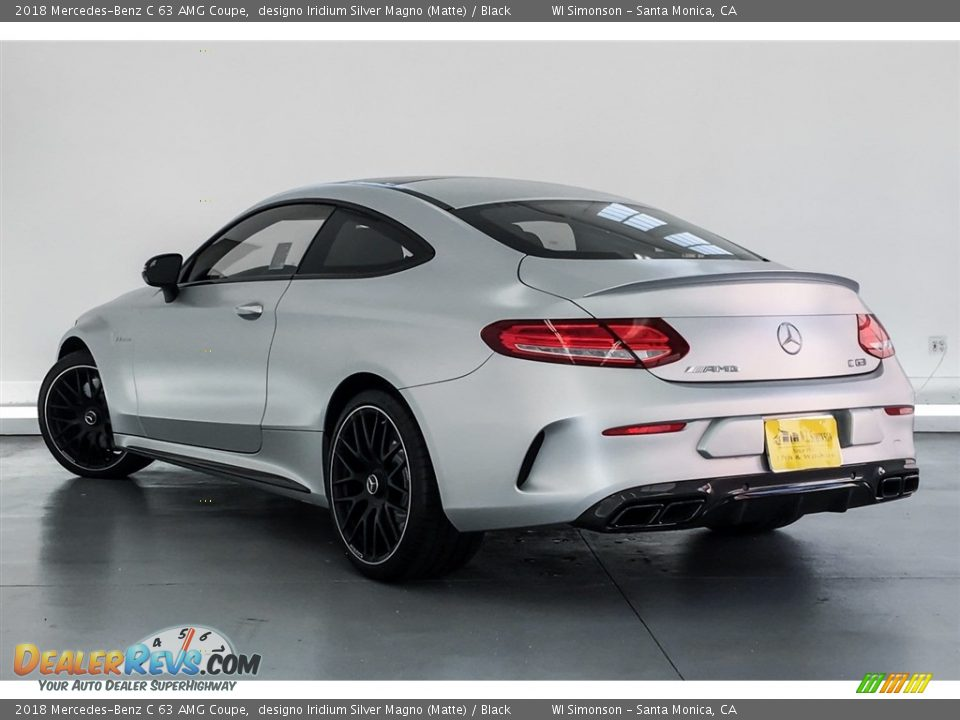 2018 Mercedes-Benz C 63 AMG Coupe designo Iridium Silver Magno (Matte) / Black Photo #2
