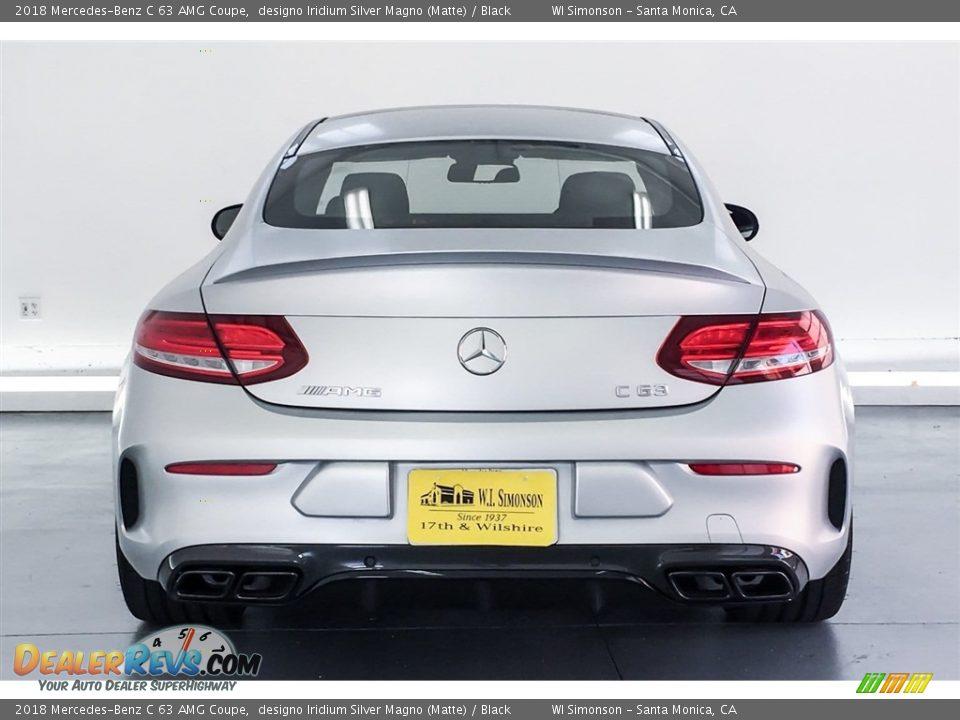 2018 Mercedes-Benz C 63 AMG Coupe designo Iridium Silver Magno (Matte) / Black Photo #3