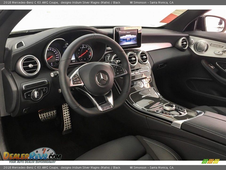 2018 Mercedes-Benz C 63 AMG Coupe designo Iridium Silver Magno (Matte) / Black Photo #4