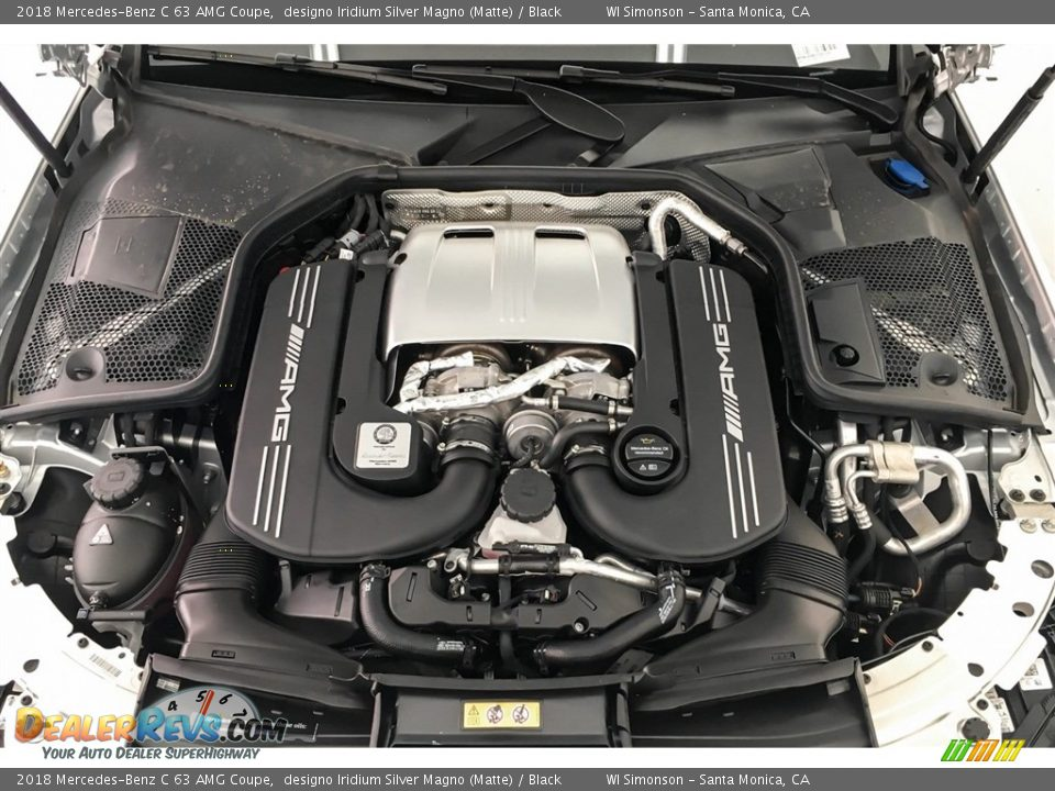 2018 Mercedes-Benz C 63 AMG Coupe 4.0 Liter AMG biturbo DOHC 32-Valve VVT V8 Engine Photo #8