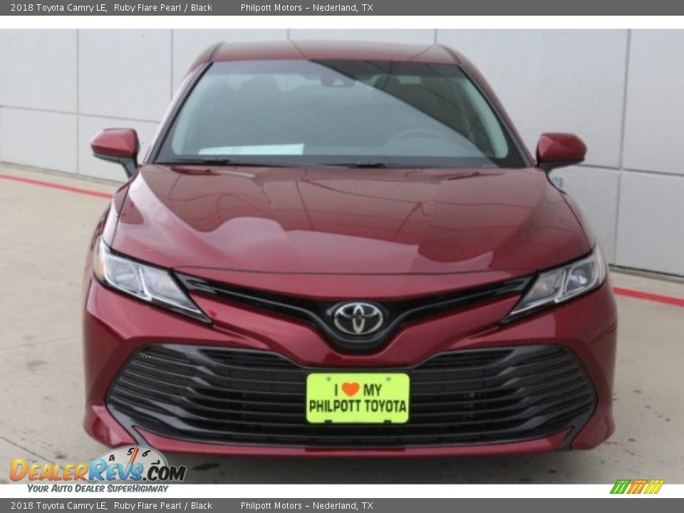 2018 Toyota Camry LE Ruby Flare Pearl / Black Photo #2