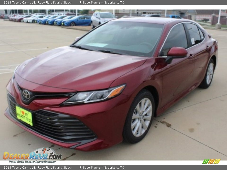 2018 Toyota Camry LE Ruby Flare Pearl / Black Photo #3