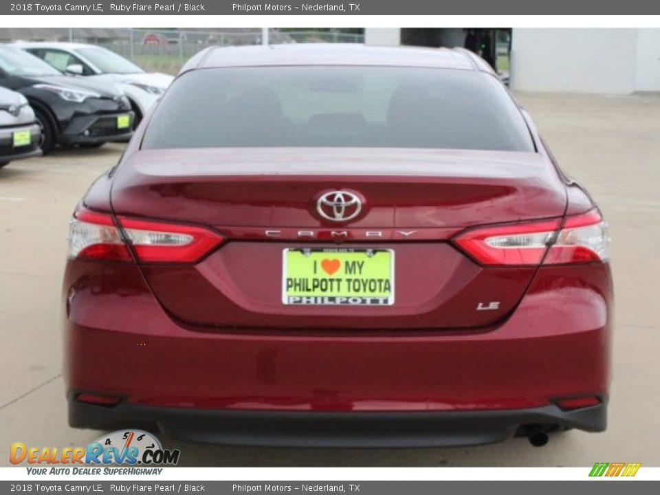 2018 Toyota Camry LE Ruby Flare Pearl / Black Photo #7