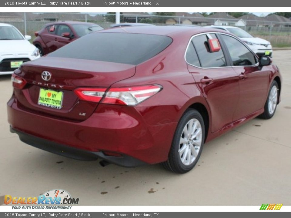 2018 Toyota Camry LE Ruby Flare Pearl / Black Photo #8