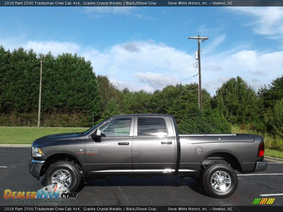 2018 Ram 2500 Tradesman Crew Cab 4x4 Granite Crystal Metallic / Black/Diesel Gray Photo #1