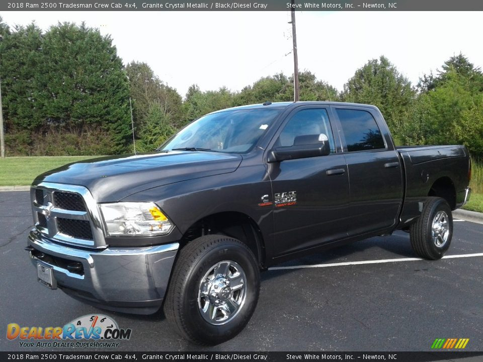2018 Ram 2500 Tradesman Crew Cab 4x4 Granite Crystal Metallic / Black/Diesel Gray Photo #2