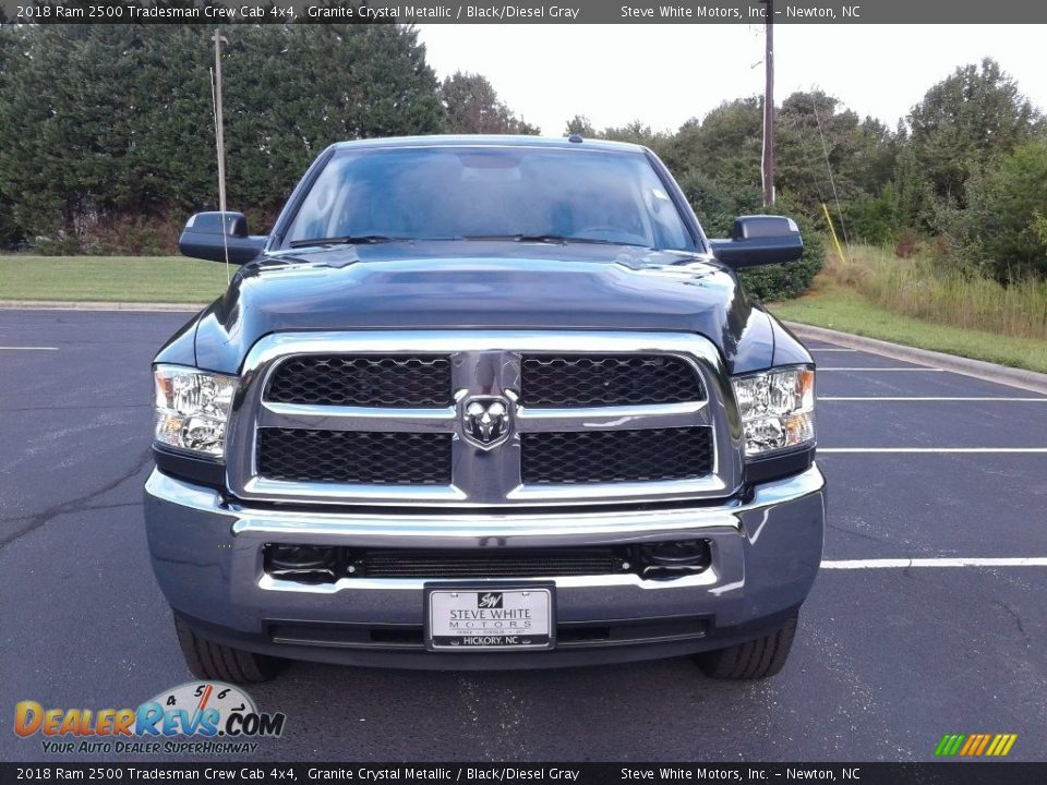 2018 Ram 2500 Tradesman Crew Cab 4x4 Granite Crystal Metallic / Black/Diesel Gray Photo #3