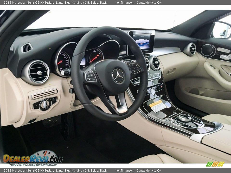 2018 Mercedes-Benz C 300 Sedan Lunar Blue Metallic / Silk Beige/Black Photo #4