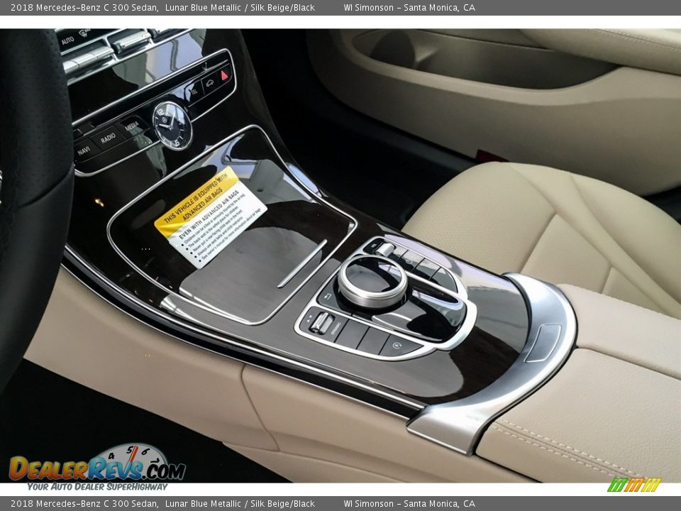 2018 Mercedes-Benz C 300 Sedan Lunar Blue Metallic / Silk Beige/Black Photo #7