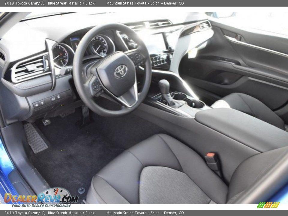 2019 Toyota Camry LE Blue Streak Metallic / Black Photo #5
