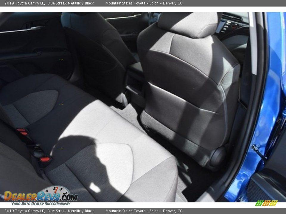 2019 Toyota Camry LE Blue Streak Metallic / Black Photo #17