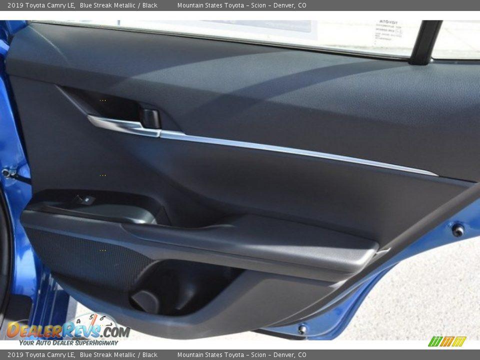 2019 Toyota Camry LE Blue Streak Metallic / Black Photo #23
