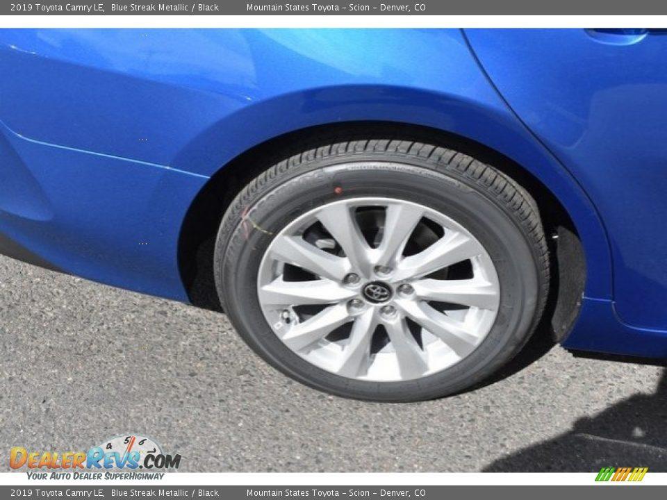 2019 Toyota Camry LE Blue Streak Metallic / Black Photo #34