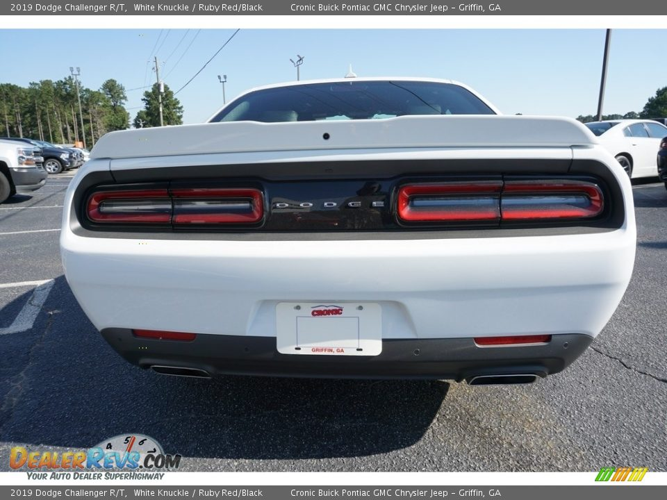 2019 Dodge Challenger R/T White Knuckle / Ruby Red/Black Photo #12