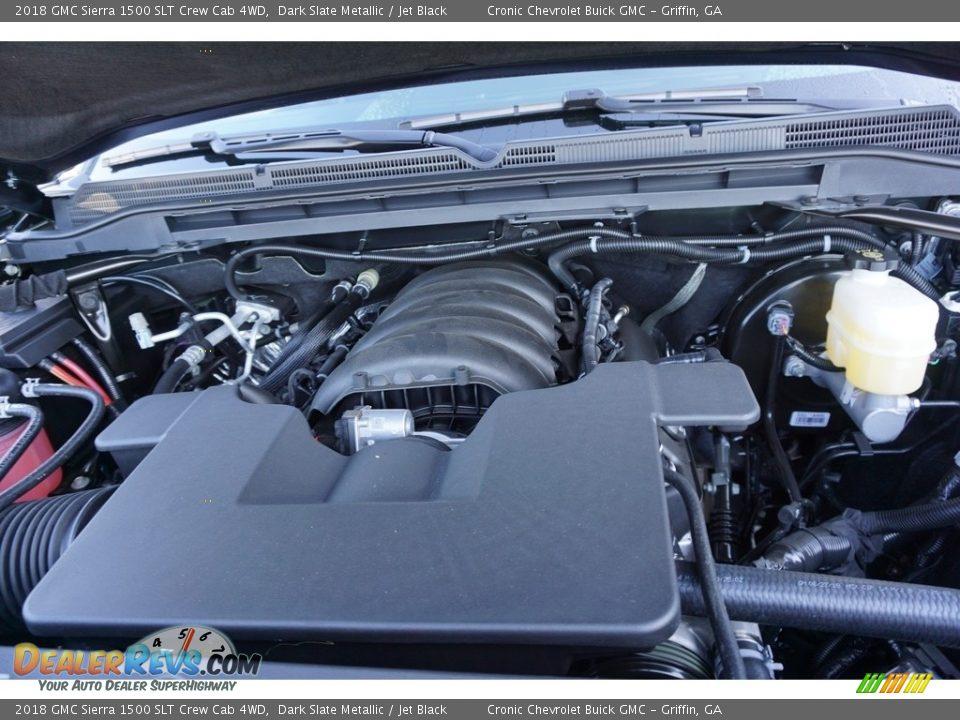 2018 GMC Sierra 1500 SLT Crew Cab 4WD Dark Slate Metallic / Jet Black Photo #11