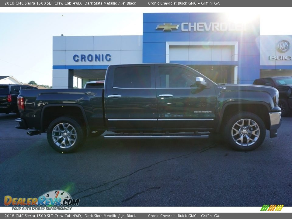 2018 GMC Sierra 1500 SLT Crew Cab 4WD Dark Slate Metallic / Jet Black Photo #12