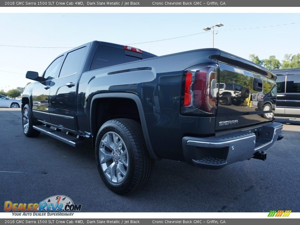 2018 GMC Sierra 1500 SLT Crew Cab 4WD Dark Slate Metallic / Jet Black Photo #15