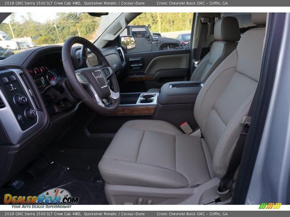 2018 GMC Sierra 1500 SLT Crew Cab 4WD Quicksilver Metallic / Cocoa/Dune Photo #4