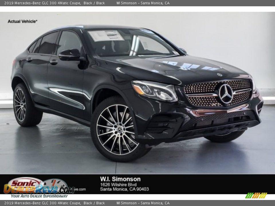 2019 Mercedes-Benz GLC 300 4Matic Coupe Black / Black Photo #1