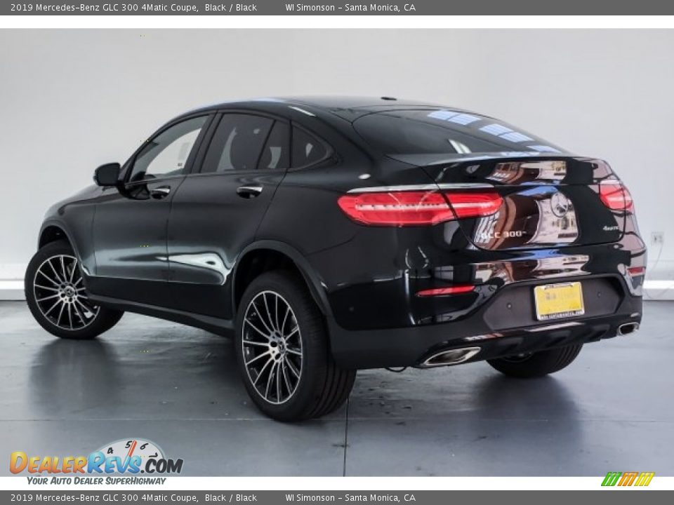 2019 Mercedes-Benz GLC 300 4Matic Coupe Black / Black Photo #2