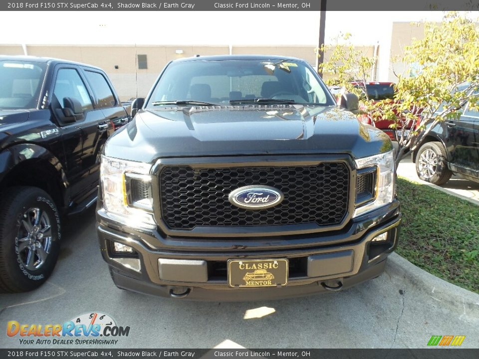 2018 Ford F150 STX SuperCab 4x4 Shadow Black / Earth Gray Photo #2