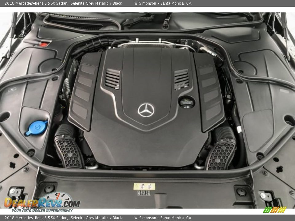 2018 Mercedes-Benz S 560 Sedan Selenite Grey Metallic / Black Photo #8