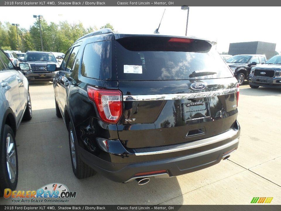 2018 Ford Explorer XLT 4WD Shadow Black / Ebony Black Photo #3