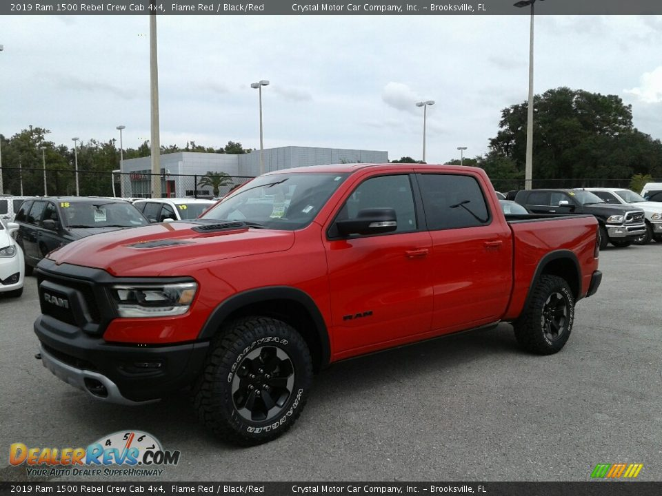2019 Ram 1500 Rebel Crew Cab 4x4 Flame Red / Black/Red Photo #1