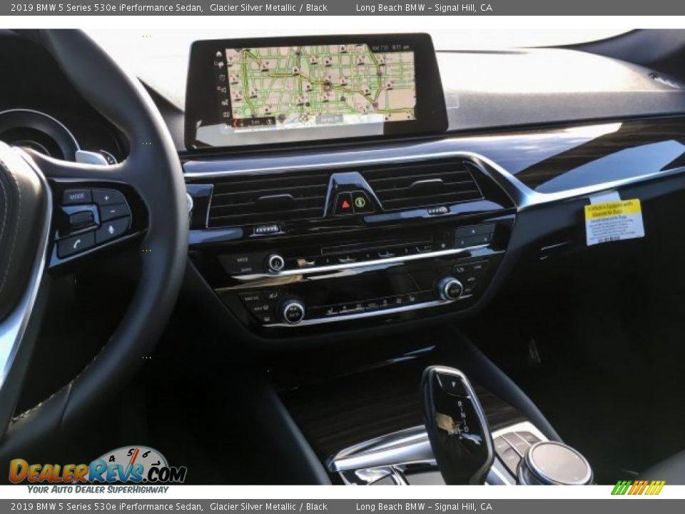 2019 BMW 5 Series 530e iPerformance Sedan Glacier Silver Metallic / Black Photo #6