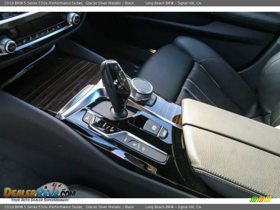 2019 BMW 5 Series 530e iPerformance Sedan Glacier Silver Metallic / Black Photo #7
