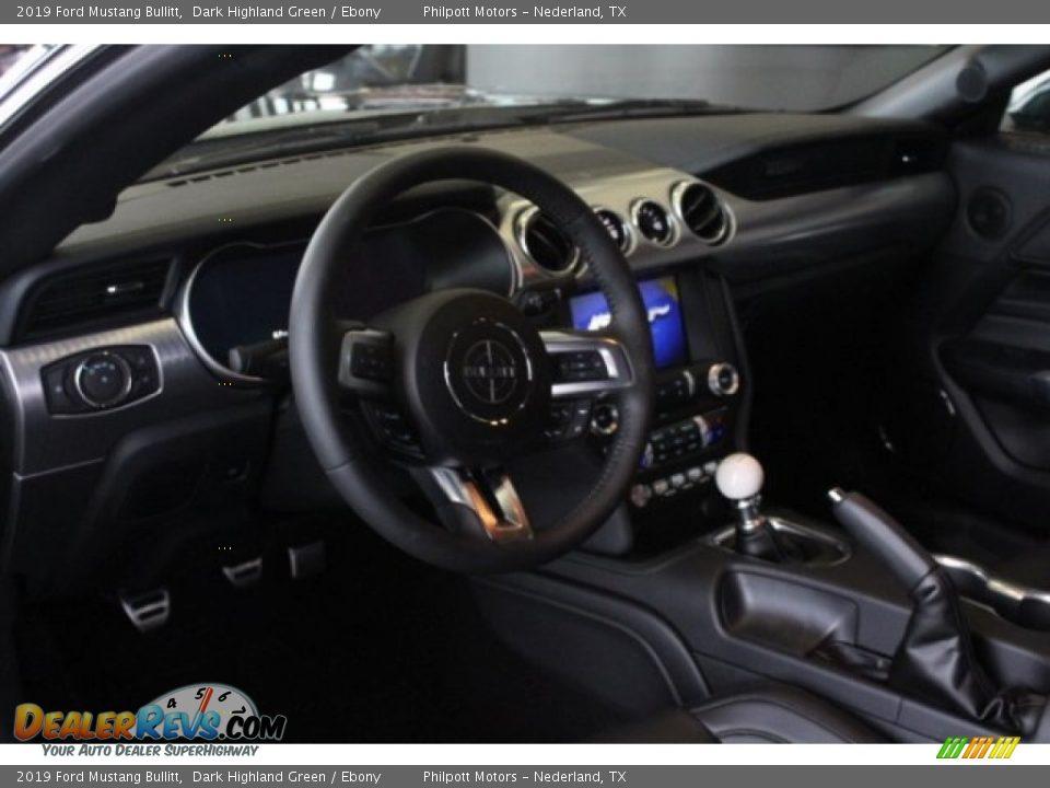 2019 Ford Mustang Bullitt Dark Highland Green / Ebony Photo #13
