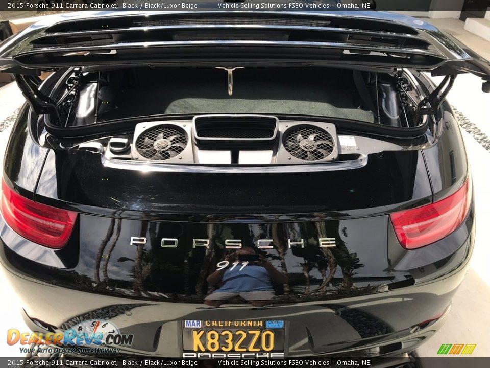 2015 Porsche 911 Carrera Cabriolet Black / Black/Luxor Beige Photo #4