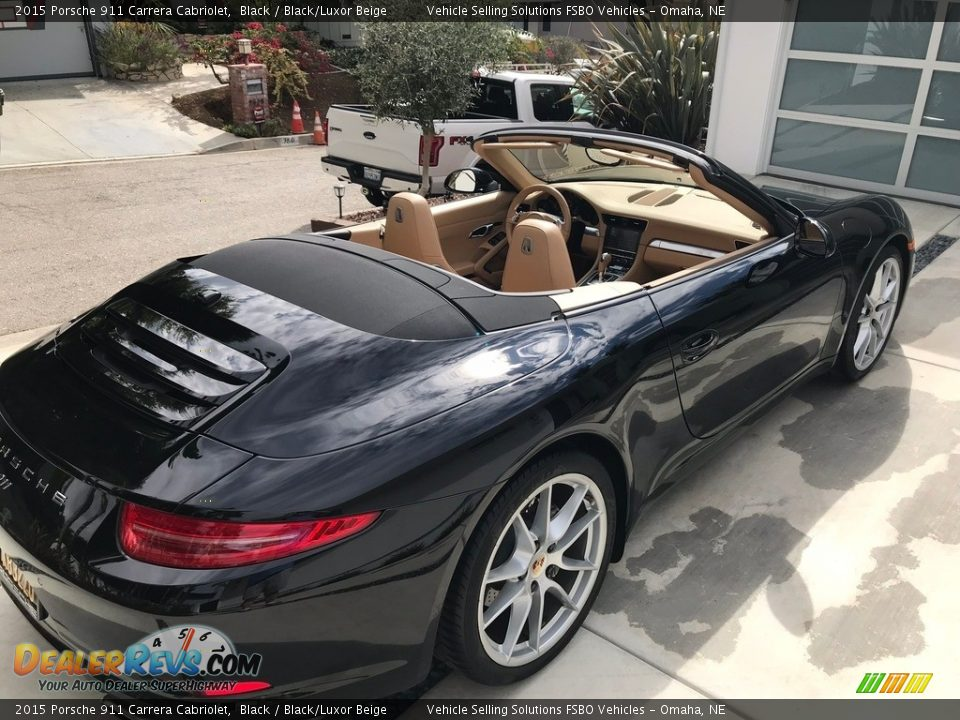 2015 Porsche 911 Carrera Cabriolet Black / Black/Luxor Beige Photo #17