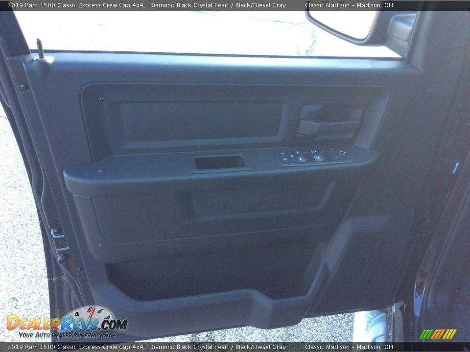 2019 Ram 1500 Classic Express Crew Cab 4x4 Diamond Black Crystal Pearl / Black/Diesel Gray Photo #8