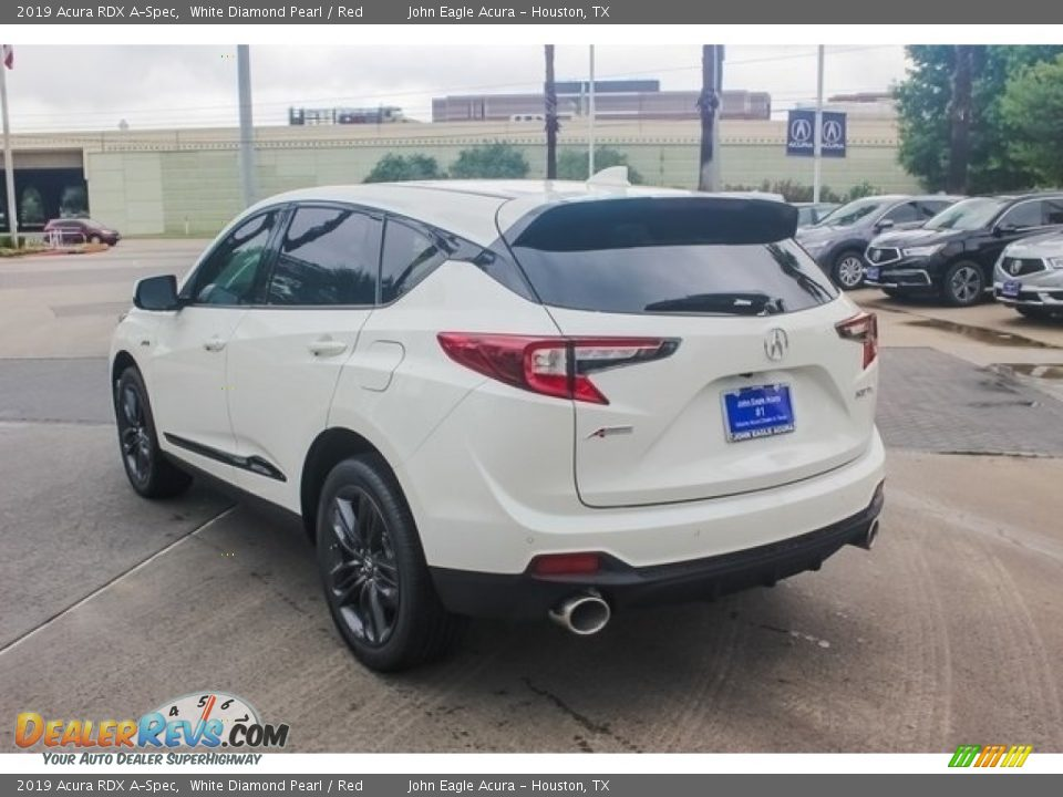 2019 Acura RDX A-Spec White Diamond Pearl / Red Photo #5
