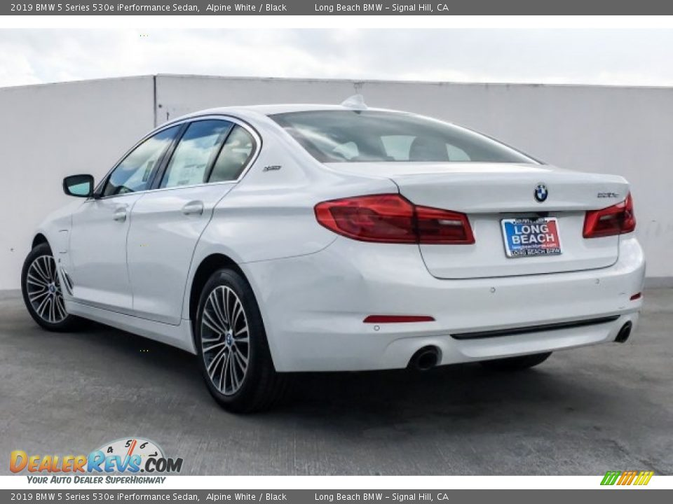 2019 BMW 5 Series 530e iPerformance Sedan Alpine White / Black Photo #2