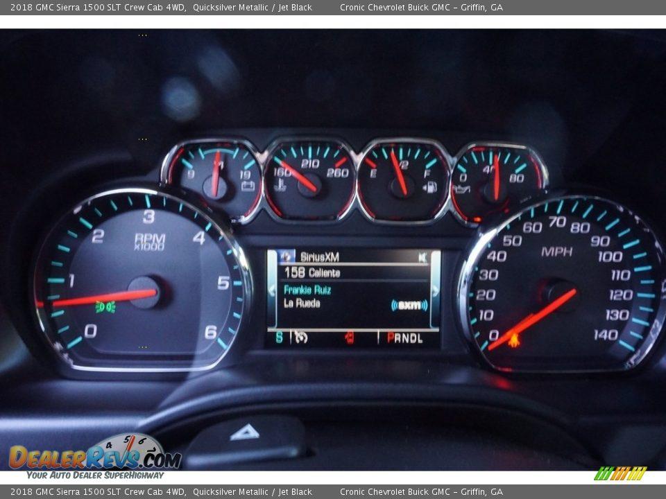 2018 GMC Sierra 1500 SLT Crew Cab 4WD Quicksilver Metallic / Jet Black Photo #7