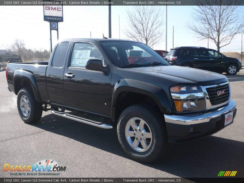 2009 gmc canyon sle extended cab 4x4 carbon black metallic ebony photo 1. Black Bedroom Furniture Sets. Home Design Ideas