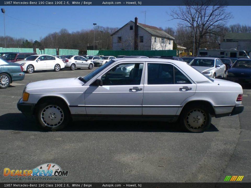 1987 mercedes benz 190 class 190e 2 6 white beige photo for 1987 mercedes benz 190e