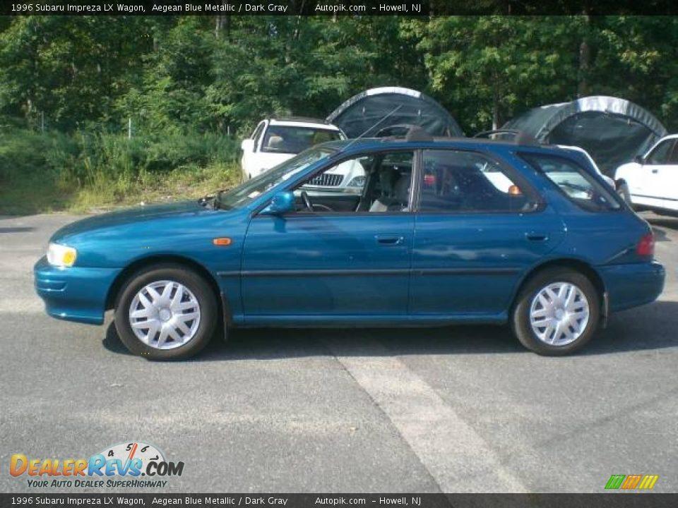 1996 Subaru Impreza Lx Wagon Aegean Blue Metallic Dark